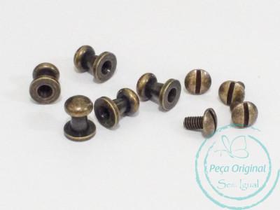 Carrapeta Puxador em aço - Ouro Velho - pct c/ 10 peças