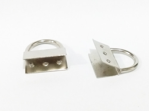 Ferragem para Montagem de Chaveiro NIQUELADO (PRATA) - pacote c/ 10 Unidades