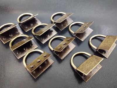 Ferragem para Montagem de Chaveiro OURO VELHO (ENVELHECIDO) pacote c/ 10 Unidades