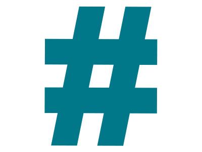 """Recorte de papelão holler para Letra caixa 20cm - Kit - """"Hashtag"""""""
