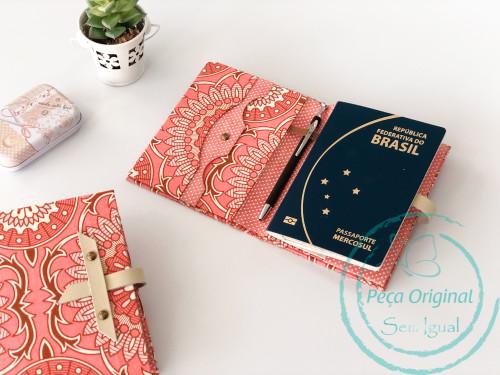 Porta Passaporte pct c/ 4 - Kit Cartonagem